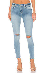 7 For All Mankind Blue Valley Women's Size 27 Ankle Super Skinny Jeans