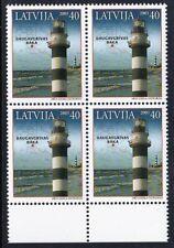 MNH Lighthouse stamps, Latvia 2005, Mi.Nr.645A, Block of 4.