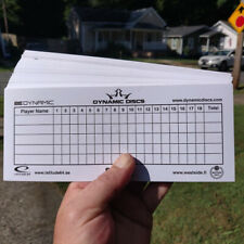 Disc Golf - Stack of aprox 50 Dynamic Discs scorecards