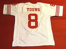 STEVE YOUNG CUSTOM SAN FRANCISCO 49ERS W JERSEY READ NOTE