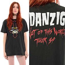 Vintage 80s GLENN DANZIG 1989 Misfits Samhain Punk Goth Band Rock T-Shirt M L