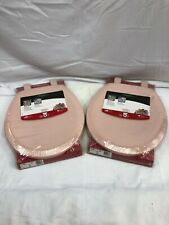 Mayfair  Never Loosens  Round  Pink  Molded Wood  Toilet Seat LOT OF 2