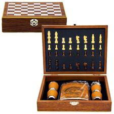 Jeux d'échecs en bois - Flasque à alcool en inox 240 ml - Coffret cadeau pêcheur