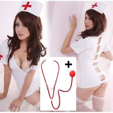 COSTUME 36 38 40 INFIRMIERE INFIRMIèRE SEXY MALADIE AMOUR NURSE + STETHOSCOPE