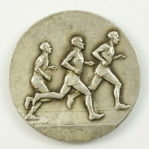 Contaux Medal Sports Running Marathon Track and Field Blank Back Vintage