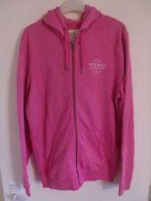 JACK WILLS Ladies Pink Zipped Hooded Sweatshirt Top Hoodie Small 100% Cotton