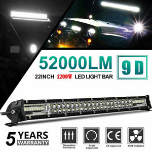 20inch 1200W Led Light Bar Dual Row Spot Flood Combo Work UTE Truck SUV ATV 22''