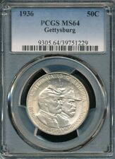 1936 Gettysburg Commemorative Half Dollar PCGS MS 64 *Early, Classic Commem!*