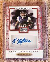 Brandon Stephens 2021 Sage Premier Draft SP Red Autograph RC Baltimore Ravens