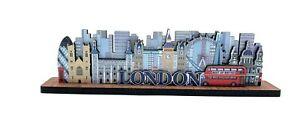 City Scene Figure Big Ben London bus London Wheel Eye London Souvenirs wooden