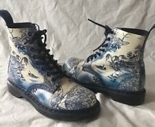 Dr Martens Boots Size 8 39 Blue Willow China Pascal Doc