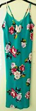 New & Tagged M&S Sleep Wear Strappy Satin Nightdress Nightgown Teal Mix Size 10