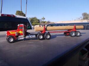 ERTL PETERBILT  GREAT NORTHWEST TIMBER Log Logging Semi Truck Tractor Trailer