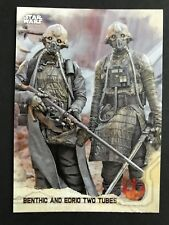 2016 Topps Star Wars Rogue One Series 1 #18 Benthic and Edrio Two Tubes