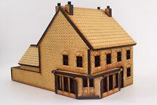 OO Viktorianischer Eckladen mit Hinterhaus - Lasergeschnitten aus MDF, Landschaf