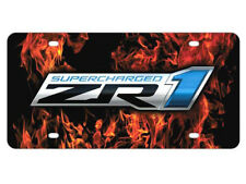 Corvette License Plate Sign with C6 ZR1 Supercharger Logo