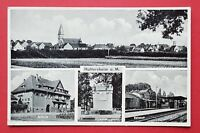AK HATTERSHEIM am Main 1939 Bahnhof, Ehrenmal und Ortsansicht   ( 31359