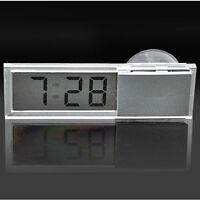1pc Auto Car Clock Digital LCD Display Suction Cup Mini Dashboard Windshieldl PP