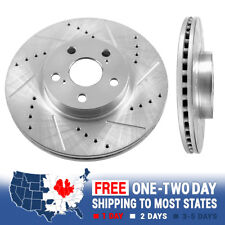 2015-2015 Corolla Front Hart Drilled Slotted Brake Rotors and Ceramic Pads