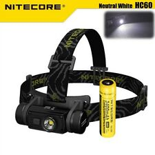 Nitecore HC60 1000LM LED USB Rechargeable Headlight Headlamp + 18650 Battery