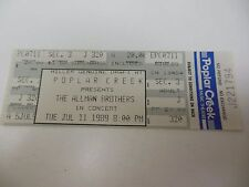 1989 Concert Ticket The Allman Brothers Poplar Creek Hoffman Estates Il Chicago