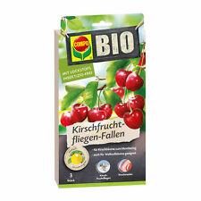 COMPO BIO Kirschfruchtfliegen-Fallen 3 Stück Leimfalle Kirschen Maden Klebefalle