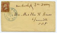 1860s Cover Hagerstown Maryland 3-Cent Peach Washington Stamp Martha Bruce