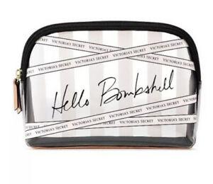 Victoria's Secret Clear Cosmetic Bag Clutch Makeup Bag - Hello Bombshell - New