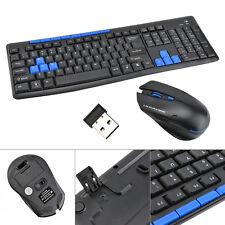 Wireless Kabellos Funk Tastatur Keyboard & Maus Set Für PC Computer Desktop UP