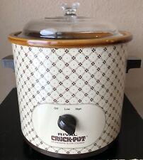 *SUPER CLEAN* Vintage Rival 3100/2 3.5 qt Crock-Pot Slow Cooker Stoneware Tested