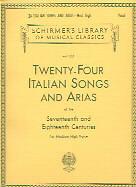24 ITALIAN SONGS & ARIAS Medium High
