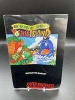 Super Mario World 2: Yoshi's Island SNES Super Nintendo Game Manual