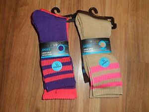 6pair Sport moisture wicking crew socks by Rampage Sport  purple  tube sock