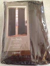 Home Trends Two Panel Chino (brown) colored drapes