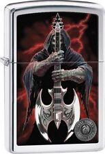 Zippo 29109, Anne Stokes-Grim Reaper & Scythe Guitar, High Polish Chrome Lighter