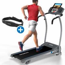 Laufband mit Pulsgurt elektrisch 12 km/h LCD Fitness Heimtrainer klappbar 125 kg