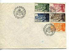 1952.ESPAÑA.EDIFIL 1111/15(o).SOBRE MATASELLO 1º DIA.CAT .47 €