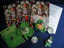 ST PATRICK'S DAY Irish Items Pins Buttons Leprechauns Cards Lot B