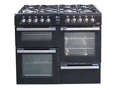 Flavel MLN10FRK Dual Fuel Range Cooker - Black 7 Burner Gas Hob Double Oven