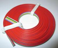 """[1m = 1,39EUR] 8-fach Litze 5m Flachbandkabel  8 Farben  """"NEU"""""""
