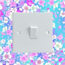 Colourful Flowers Pattern Electrical Light Switch Surround Printed Vinyl Sticker