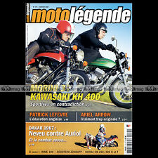 MOTO LEGENDE N°175 IMME R 100 KAWASAKI KH 400 MORINI 350 HUBERT AURIOL DAKAR
