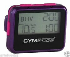 GYMBOSS INTERVAL TIMER & STOPWATCH VIOLET / PINK METALLIC GLOSS FROM GYMBOSS HQ