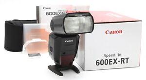 Excellent Canon Speedlite 600EX-RT with Accessories, Case, & Box #35385