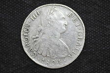 Mexico - Spanish Colonial 1804 Mo TH 8 Reales Silver Coin ( Wt : 26.64 g ) C22