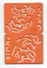 1960s / 1970s Kelloggs Stencil CRACKLE (Orange)