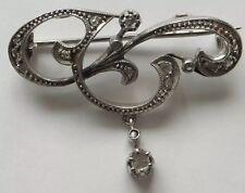 Antique Diamond 18ct Gold Art Nouveau Brooch