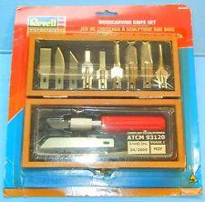 REVELL MONOGRAM WOOD CARVING KNIFE SET WITH CASE MODEL # 88-6950