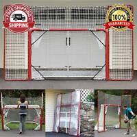 72Lx48H Goal Net with Backstop Portable Folding Regulation Size Hockey Training