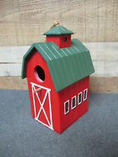 Red Barn Birdhouse with Clean Out Hole